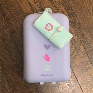 American Girl suitcase and passport holder